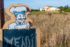 Tourist Menu - Italian Chef Stock Photo