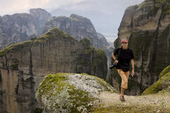 Tourist in Meteora, Greece Stock Image