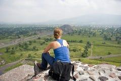 Tourist in Mexiko stockbild