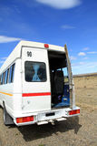 Minibus on Rural Roadside Stock Photography