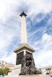 Tourist mit Nelsons Spalte stockbild