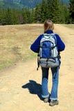 Tourist mit Rucksack Lizenzfreie Stockbilder