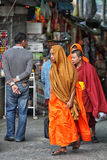 Tourist monk Royalty Free Stock Images
