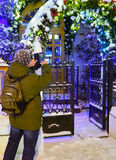 Tourist in Moscow during Christmas holiday Royalty Free Stock Photo