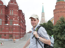 Tourist in Moscow, Russia Stock Photo