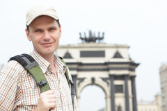 Tourist in Moscow, Russia Royalty Free Stock Photo