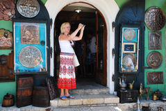 Tourist in Mostar Royalty Free Stock Image