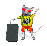 Tourist Mouse - includes clipping path Stock Photography