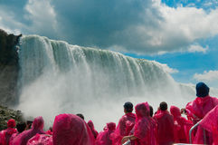 Tourist at Niagara Falls, Ontario, Canada Stock Images