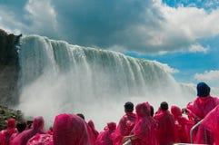 Tourist at Niagara Falls, Ontario, Canada Stock Images