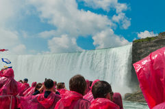 Tourist at Niagara Falls, Ontario, Canada Royalty Free Stock Photo