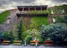 Tourist in old Tbilisi Royalty Free Stock Images