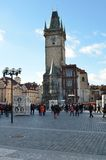 Old Town Square in city of Prague Royalty Free Stock Photo