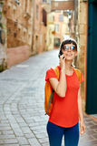Tourist in the old town Royalty Free Stock Images