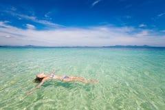 Tourist On Koh Kradan Island Royalty Free Stock Photography
