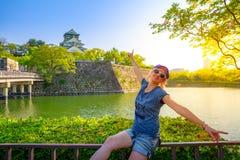 Tourist at Osaka Castle Royalty Free Stock Photos