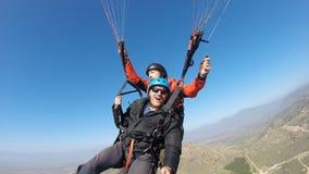 Tourist paragliding Royalty Free Stock Photo