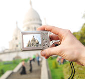 Tourist in Paris Stock Photography