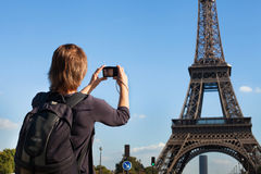 Tourist in Paris Lizenzfreie Stockbilder