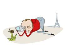 Tourist in Paris Stock Image