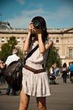 Tourist in Paris Royalty Free Stock Photo