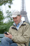 Tourist in Paris, France Stock Photos