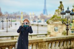Tourist in Paris Royalty Free Stock Photography