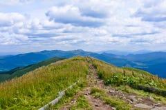 Tourist path. In Bieszczady Mountains, Poland Royalty Free Stock Photos