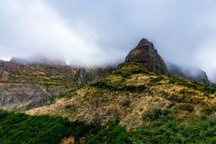Tourist path from Pico Areeiro to Pico Ruivo, Madeira Island stock photography