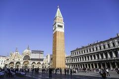 Tourist people around Piazza San Marco Stock Photo