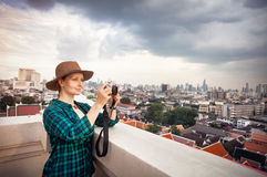 Tourist photograph in Bangkok Royalty Free Stock Photography