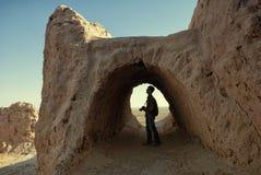 Tourist photographer in Khwarezm Stock Photography