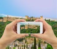 Taking photo in granada Stock Images
