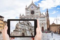 Tourist photographs Basilica di Santa Croce Stock Images