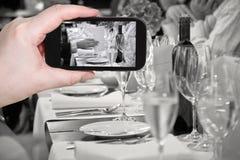 Tourist photographs of beginning official dinner Stock Photo