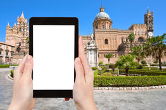 Tourist photographs of Cathedral of Palermo Sicily Stock Photo