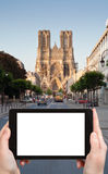 Tourist photographs of Cathedral in Reims, France Stock Photos