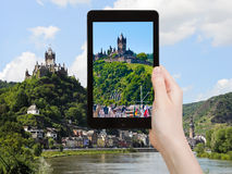 Tourist photographs of Cochem town, Germany Royalty Free Stock Photo