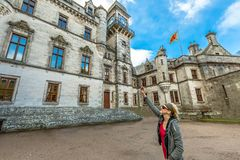 Tourist photographs Dunrobin Castle Stock Image