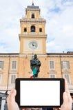 Tourist photographs of Giuseppe Garibaldi Monument Royalty Free Stock Photography