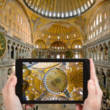 Tourist photographs of Hagia Sophia, Istanbul Stock Images