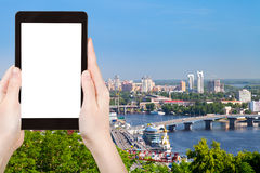 Tourist photographs of Kiev cityscape Royalty Free Stock Photography