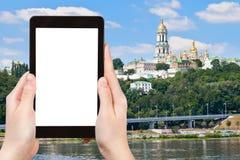 Tourist photographs of Kiev Pechersk Lavra Royalty Free Stock Image
