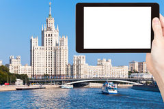 Tourist photographs of Moscow cityscape in summer Royalty Free Stock Photography
