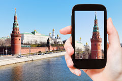 Tourist photographs of Moscow Kremlin Royalty Free Stock Photography