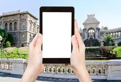 Tourist photographs Palais de Longchamp Marseille Stock Image