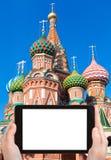 Tourist photographs of Saint Basil's Cathedral Royalty Free Stock Photos