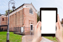 Tourist photographs of Scrovegni Chapel in Padua Stock Image