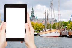 Tourist photographs of Stockholm museum, Sweden Stock Photos