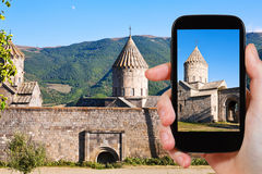 Tourist photographs of Tatev Monastery in Armenia Stock Images